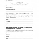Membership Form Template - BID Company